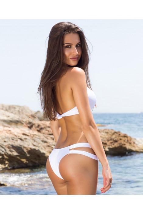 Bikini  - BIKINI PUSH UP NINFEA BIANCO GLITTER - Interno Oro