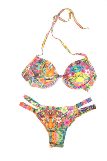 Bikini  - BIKINI TRIANGOLO PUSH UP NINFEA TIGRE