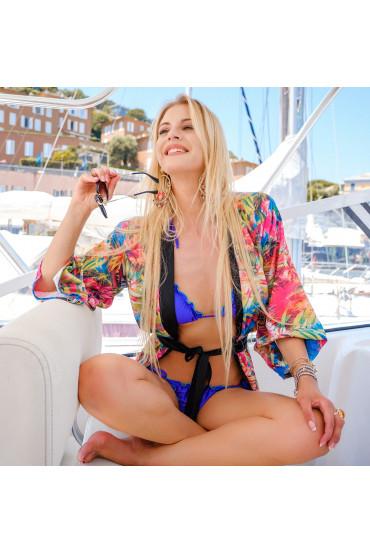Bikini  - BIKINI TRIANGOLO MIAMI GLITTER BLU