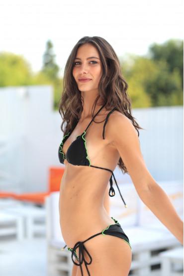 Bikini  - BIKINI TRIANGOLO MIAMI NERO GLITTER