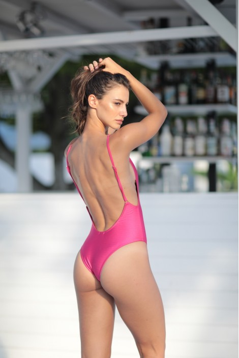 SWIMSUIT PARIS PINK GLITTER
